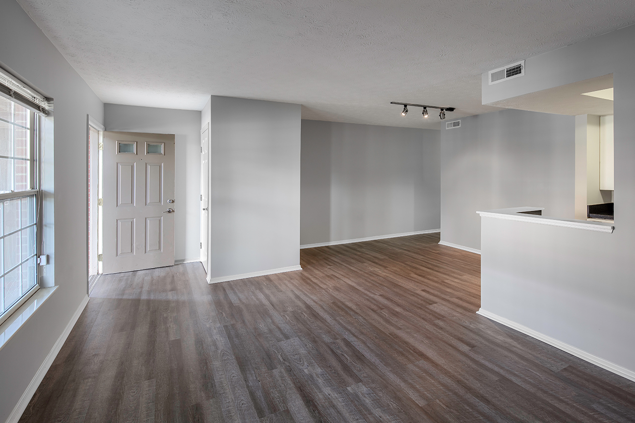 Empty living space at the landing